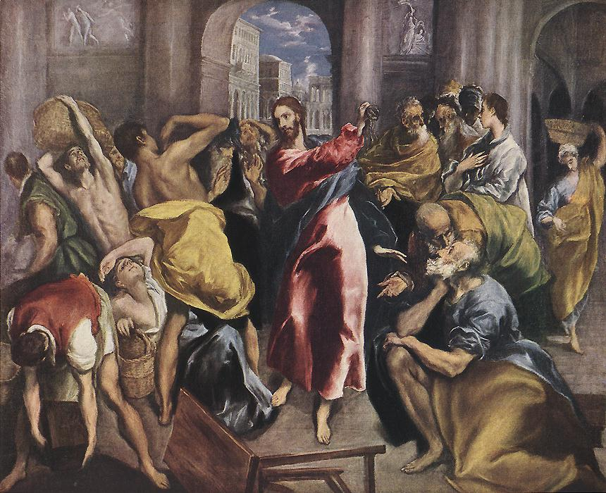 Cleansing the Temple El Greco