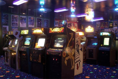 Pictured: an arcade you won't find in Japan.