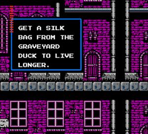 Castlevania II Simon's Quest tips