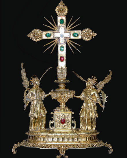 Golden Elaborate Catholic Cross