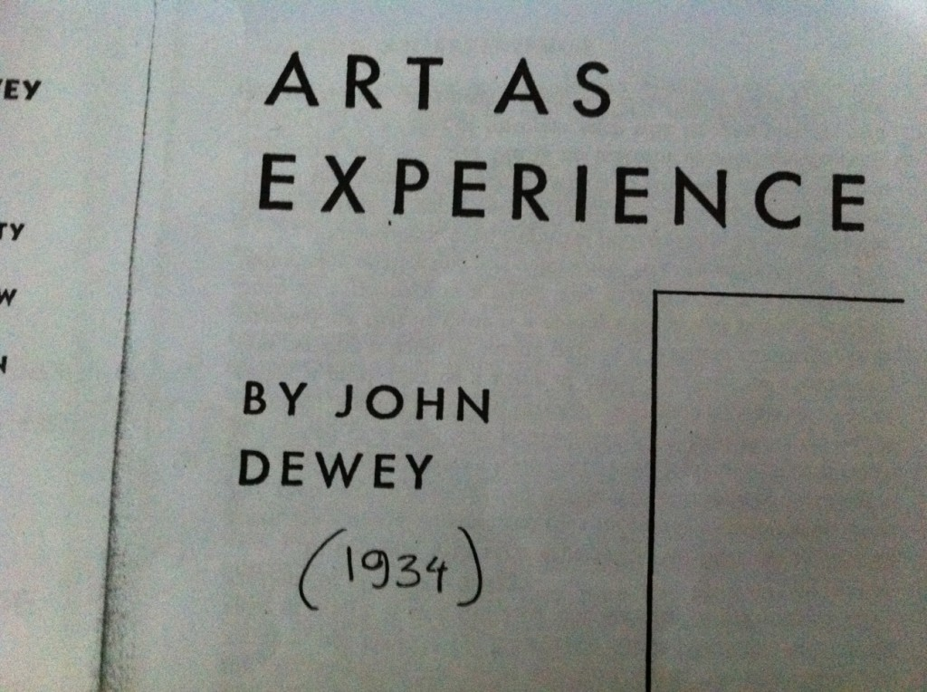 Art as Experience Dewey