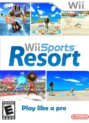 wii sports resort box art