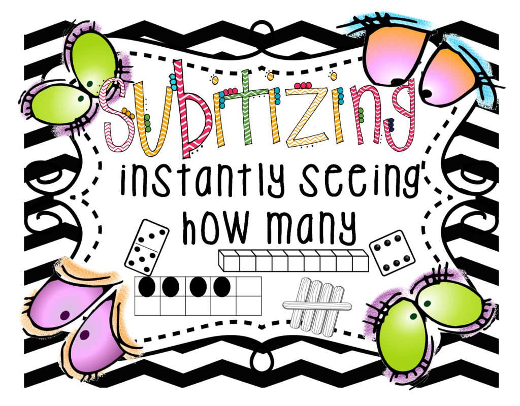 subitizing mini poster