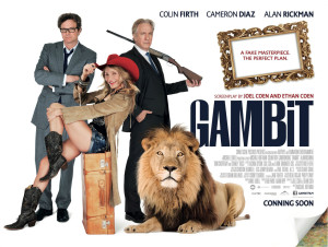 Gambit UK Poster 300x226 Monday Art Heist Update   Gambit and The Art of the Steal