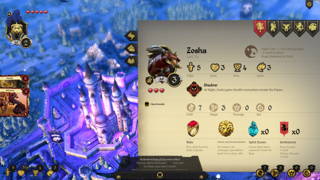 Armello contains a number of layers and gameplay systems I didn't even touch on, yet manages to condense most of that information in simple pages like this.